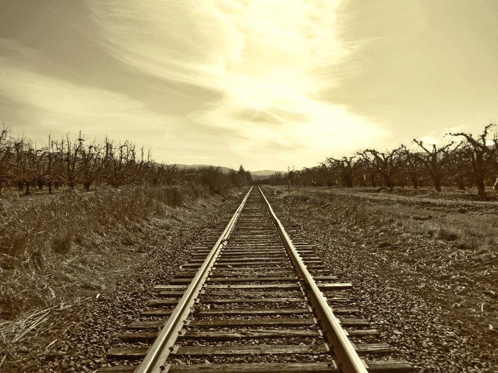 Lonely Tracks. Rural Hood River County